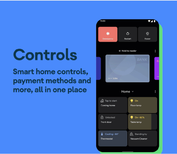 Controls - Android 11 Feature