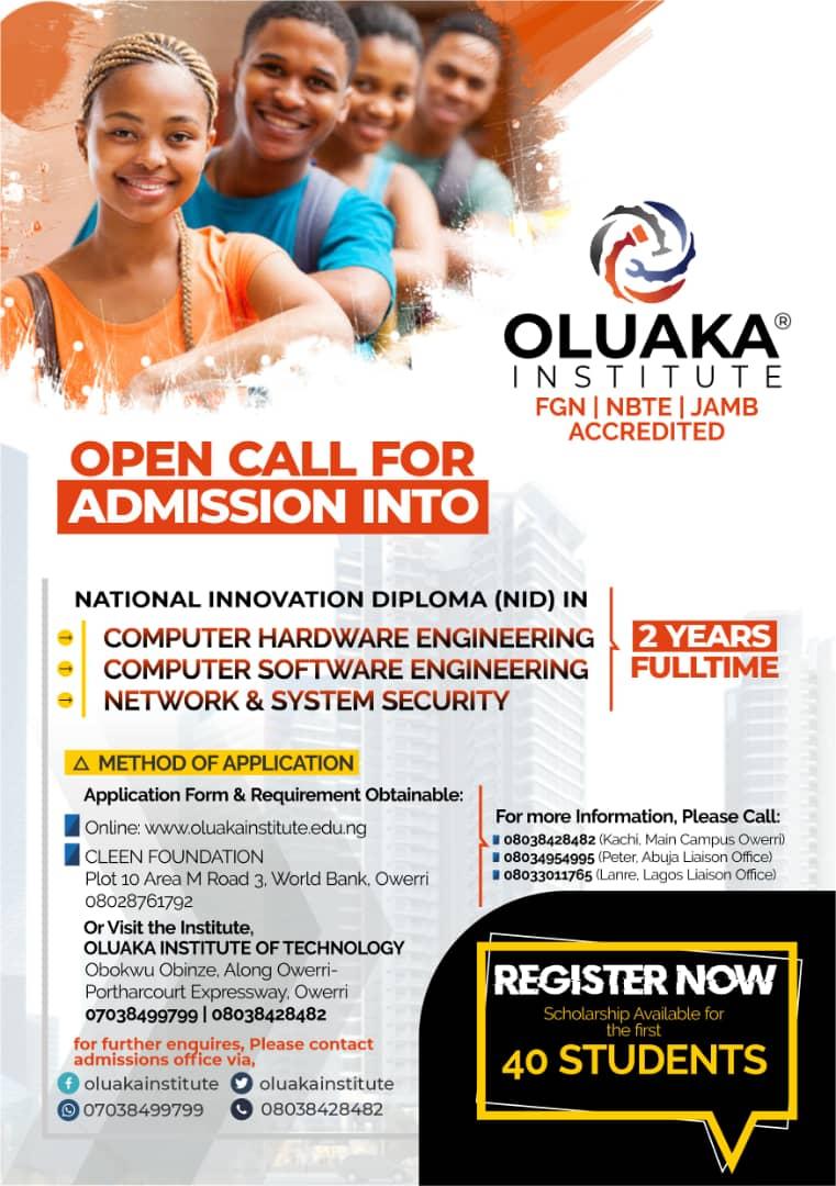 oluaka institute of technology admission